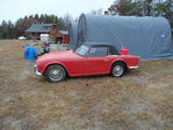 1966 Triumph TR4 Red Just The Brit